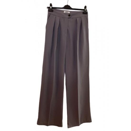 Gri Klasik Bol Kesim Pantolon