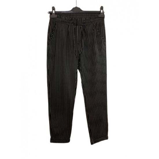 Beyaz Çizgili Cigarette Pantolon